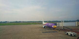 Nokair. Ubonratchatani international airport Stock Image