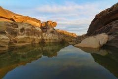 Ubonratchathani 3000 Bok峡谷  库存图片