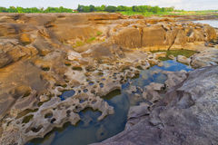 Ubonratchathani 3000 Bok峡谷  图库摄影