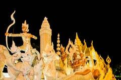 Ubonratchathani, Tailândia - 12 de julho: Festival da vela de Tailândia sobre Imagem de Stock Royalty Free