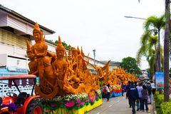 Ubonratchathani, Tailândia - 12 de julho: Festival da vela de Tailândia sobre Foto de Stock