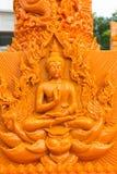 Ubonratchathani, Tailandia - 12 de julio: Festival de la vela de Tailandia encendido Foto de archivo libre de regalías