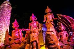 Ubonratchathani, Tailandia - 12 luglio: Festival della candela della Tailandia sopra Fotografie Stock Libere da Diritti
