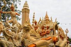 Ubonratchathani, Tailandia - 12 luglio: Festival della candela della Tailandia sopra Fotografia Stock Libera da Diritti