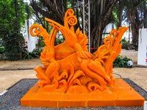 Ubonratchathani, Tailandia - 12 luglio: Festival della candela della Tailandia sopra Immagine Stock