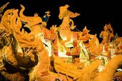 Ubonratchathani, Thaïlande - 12 juillet : Festival de bougie de la Thaïlande dessus Images stock