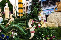 Ubonratchathani, Thaïlande - 12 juillet : Festival de bougie de la Thaïlande dessus Photo libre de droits