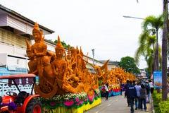 Ubonratchathani, Thaïlande - 12 juillet : Festival de bougie de la Thaïlande dessus Photo stock