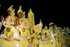 Ubonratchathani Thailand - Juli 12: Thailand stearinljusfestival på Royaltyfria Foton