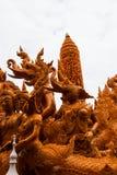 Ubonratchathani, Thailand - July 12: Thailand candle festival on Royalty Free Stock Photos
