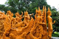 Ubonratchathani, Thailand - July 12: Thailand candle festival on Stock Photography
