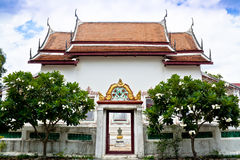 Ubosot. Or Wat or Buddhist temple Thai style royalty free stock image