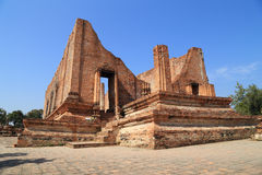 Ubosot (Ordination Hall) at Wat Mahaeyong, the ruin of a Buddhis Royalty Free Stock Images
