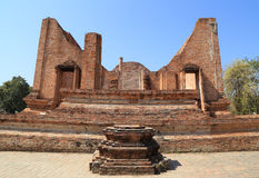 Ubosot (Ordination Hall) at Wat Mahaeyong, the ruin of a Buddhis Royalty Free Stock Photos