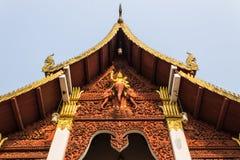 Ubosot in wat Chang Kump, Wiang Kum Kam Stock Afbeeldingen