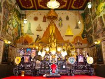 Ubosot of Wat Indra Viharn temple , Bangkok Stock Photography