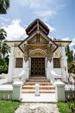 Ubosot Wat pafang在Lampang北泰国 免版税库存照片