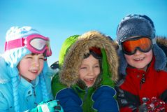 ubrania dziecka zima Zdjęcia Royalty Free