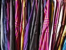 Ubrania kolory Zdjęcia Royalty Free