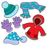 ubrania zimy zbioru ilustracja wektor