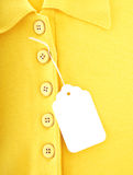 ubraniowa etykietka Zdjęcia Royalty Free