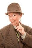 ubraniowa męska starsza kobieta Obrazy Royalty Free