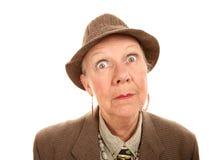ubraniowa męska starsza kobieta Obraz Royalty Free