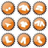 ubraniowe ikony Fotografia Stock