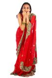 ubraniowej dziewczyny indyjscy tradycyjni potomstwa fotografia royalty free