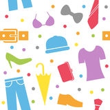 Ubraniowy Bezszwowy Wzór Fotografia Stock