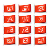ubraniowy etykietek symboli/lów target318_1_ Zdjęcie Stock