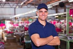 Ubraniowy fabryczny właściciel Obraz Stock