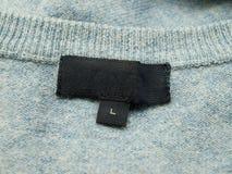 ubraniowy opróżnia etykietkę Fotografia Stock