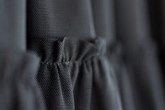 Ubraniowy tkanina szczegół czarny oblamowanie suknia fotografia royalty free