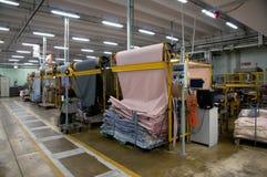 ubraniowych manekina w środku sklepu tkanin przemysłu samice kobiety Fotografia Royalty Free