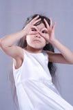 ubrany atłasowy białe dziecko Obraz Royalty Free