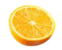 Ubriaco arancio fresco su bianco immagine stock libera da diritti