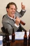 Ubriacone dell'ufficio Fotografia Stock Libera da Diritti