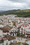 Ubrique city. Aerial view of Ubrique city with Andalusian mountains in background, Cadiz, Spain Stock Image