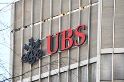 UBS, банк ` s Швейцарии самый большой стоковые фото