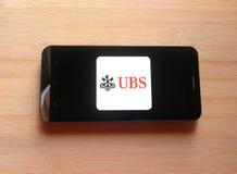 UBS-Bank app stock foto
