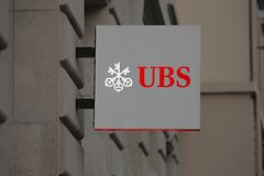 UBS bank sign Royalty Free Stock Images