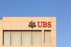 UBS banka biura w Genewa, Szwajcaria zdjęcie stock
