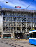 UBS office on Talacker street in Zurich Stock Image