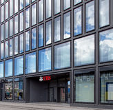 UBS Ofice sur la rue d'Europaallee à Zurich Image stock