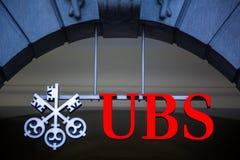 UBS, Szwajcaria ` s wielki bank obrazy stock