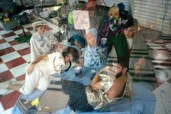 从Ubu Roi的场面阿尔弗莱德Jarry -迈阿密 库存照片