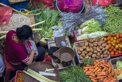 Ubud,巴厘岛, Tradtional公众食品批发市场 免版税图库摄影
