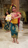 UBUD,巴厘岛,印度尼西亚- 2017年5月11日:巴厘语舞蹈家执行Ramayana 免版税图库摄影