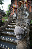 Ubud. Detail of an entrance to hindu temple in Ubud Stock Image